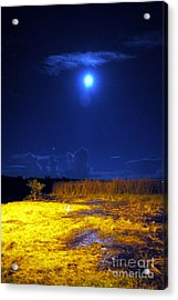 Moonrise Over Rochelle - Portrait Acrylic Print