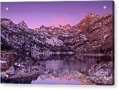 Acrylic Print featuring the photograph Lake Sabrina Sunrise Eastern Sierras California by Dave Welling