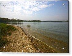 Lake Scene Acrylic Print by John Holloway