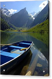 Lake Seealpsee Alpstein Canton Appenzell Switzerland Acrylic Print by PIXELS  XPOSED Ralph A Ledergerber Photography