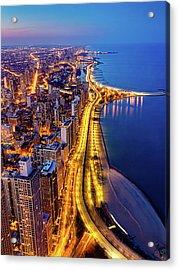 Lake Shore Drive Acrylic Print by Carl Larson Photography