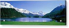Lake Silverplaner St Moritz Switzerland Acrylic Print by Panoramic Images