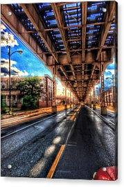 Lake Street El Tracks Acrylic Print