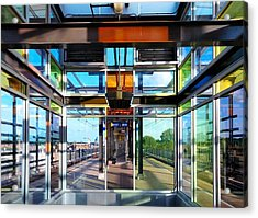 Lake Street Rail Station Acrylic Print by Jim Hughes