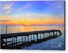 Lake Sunrise - Watercolor Acrylic Print