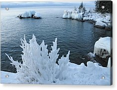 Lake Superior Blues Acrylic Print by Sandra Updyke