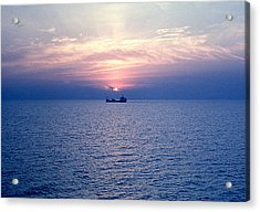 Lake Superior Evening Acrylic Print by George Cousins