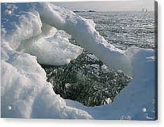 Lake Superior Ice Arch Acrylic Print
