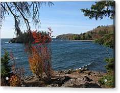 Lake Superior In The Fall Acrylic Print