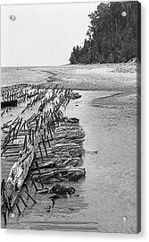 Lake Superior Shipwreck Acrylic Print
