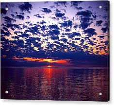 Lake Superior Sunset Acrylic Print by Tim Hawkins