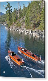 Lake Tahoe Boating Acrylic Print by Steven Lapkin