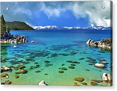 Lake Tahoe Cove Acrylic Print by Dominic Piperata