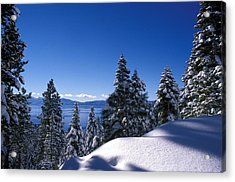 Lake Tahoe In Winter Acrylic Print by Kathy Yates