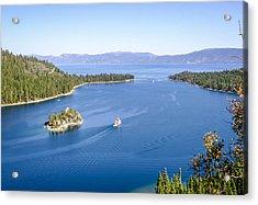 Lake Tahoe Paddle Boat Acrylic Print