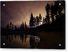 Lake Tahoe Sand Harbor Silhouette Acrylic Print by Scott McGuire