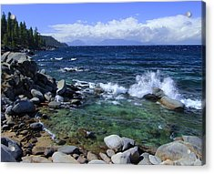 Acrylic Print featuring the photograph Lake Tahoe Wild  by Sean Sarsfield