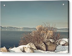 Lake Tahoe Winter Acrylic Print by Kim Hojnacki