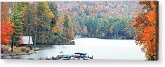 Lake Toxaway In The Fall Acrylic Print