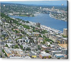 Lake Union Panorama Acrylic Print