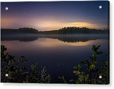 Lake View At Night Acrylic Print