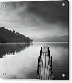 Lake View With Pier II Acrylic Print