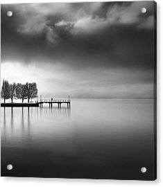 Lake View With Trees Acrylic Print