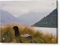 Lake Wakatipu Bench Acrylic Print