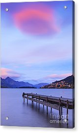 Lake Wakatipu Queenstown New Zealand Acrylic Print by Colin and Linda McKie