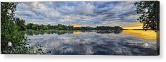 Lake Wausau Summer Sunset Panoramic Acrylic Print