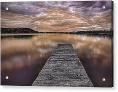 Lake White Twilight Acrylic Print