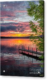 Lake Winnisquam Sunrise 2 Acrylic Print by Mike Ste Marie