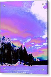 Winter  Snow Sky  Acrylic Print