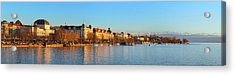 Acrylic Print featuring the photograph Lake Zurich Panorama by Marc Huebner