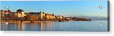 Lake Zurich Panorama Acrylic Print by Marc Huebner