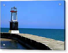 Lakefront Pier Tower Acrylic Print