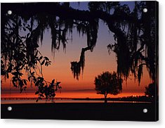 Lakefront Sunset Acrylic Print