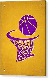 Lakers Team Hoop2 Acrylic Print by Joe Hamilton