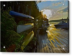 Acrylic Print featuring the photograph Lakeside by Alice Mainville