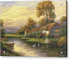 Lakeside Cottage Acrylic Print by Ghambaro