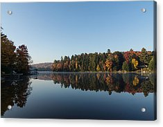 Lakeside Cottage Living - Peaceful Morning Mirror Acrylic Print