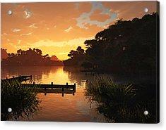 Lakeside Acrylic Print by Cynthia Decker