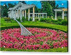 Lakeside Park Floral Gardens Acrylic Print