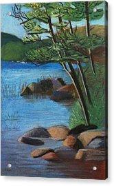Lakeside Pines Acrylic Print by Jane Croteau