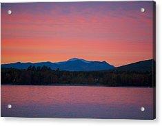 Acrylic Print featuring the photograph Lakeside Sunset by Larry Landolfi