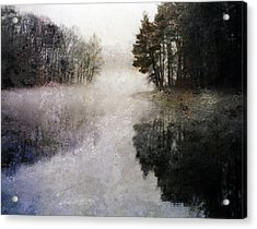 Lakeside Trees Acrylic Print