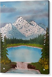 Lakeside Waterfall Acrylic Print by Jared Swanson