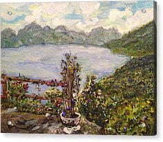 Acrylic Print featuring the painting Lakeview by Belinda Low