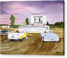 Lakevue Drive In Theater Acrylic Print