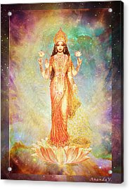 Lakshmi Floating In A Galaxy Acrylic Print